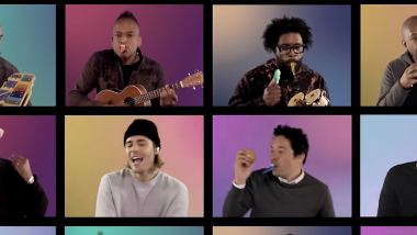 Justin Bieber, Jimmy Fallon και The Roots - «Peaches»